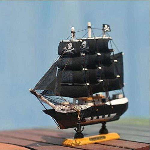 1yess Wohnzimmer Dekorationen Segelboot Modell Mittelmeer Holz Segelboot Figurine Piratschiff Modell Karibik Wohnkultur Massivholz Handwerk Ornamente Zubehör 8bayfa