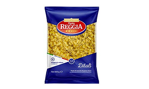 10x Pasta Reggia Ditali N°53 Hartweizengrieß Pasta 100% Italienische Pasta Packung mit 500g