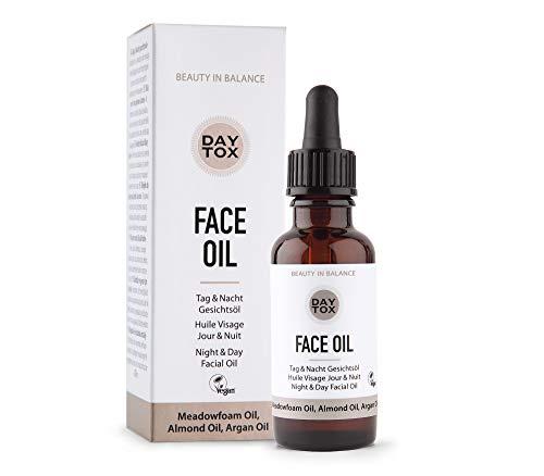 DAYTOX - Face Oil - Trockenes Gesichtsöl für Tag und Nacht - Vegan, ohne Farbstoffe, silikonfrei und parabenfrei - 30 ml