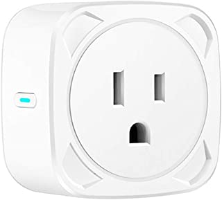 Novania Smart Plug WiFi Outlet, Mini Smart Socket Compatible with Google Home & Amazon Alexa Echo, Remote Control Wireless Timer Switch Outlet,IFTTT Voice Control,No Hub Required,(1/2/4 Pack) (A)