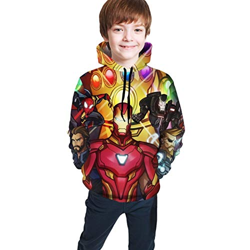 liang4268 Avengers Infinity War Superhero Iron Man Ultimate Teen Sweatshirt Kinder Hoodies Teens Shirt Unisex Kinder Langarm T-Shirt (M(10-12))