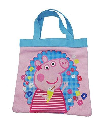 Peppa Pig Mini sac fourre-tout en toile et de plage 20 cm Rose
