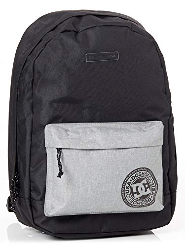DC Shoes Backstack, Mochila Mediana para Hombre, Negro (Black/Grey), One size