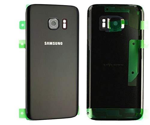 Original Tapa de la batería, parte posterior, cubierta de la batería para Samsung galaxy S7 G930F en Negro / lentes de cámara / lámina adhesiva/ herramienta