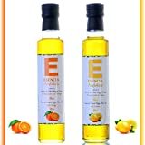 Aceite de Oliva Virgen Extra Aromatizado, Aceite oliva aromatizado,Aceite Picante, Aromatizado Trufa, jamón, Limón, Naranja, Albahaca, Aceite Aromatizado Botellas 250 ml (Naranja - Limón)