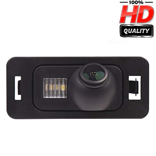 HD 1280x720p Rückfahrkamera für BMW 1er E81 E82 E88 3er E92 E90 E91 5er E39 E53 E70 E71 E72 X1 E84 X3 X5 X6 ,Farbkamera Einparkkamera Nachtsicht Rückfahrsystem Einparkhilfe Wasserdicht Stoßfest