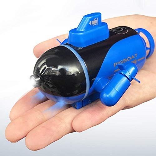 youngfate Ferngesteuertes U-Boot Mit Licht Mini U-Boot Spielzeug RC Boot Elektronisches Wasserdichtes Boot Multifunktionales, Langlebiges U-Boot-Modell Mit Spielzeug Für Elektroboote
