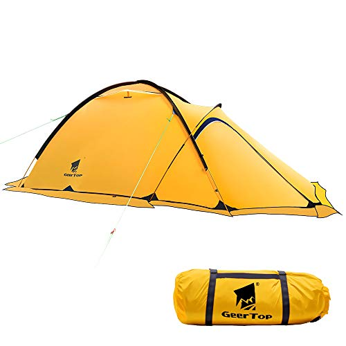Geertop Portable 2 Person 4 Season Camp Tent Waterproof Backpacking Tent Double Layer All Weather for Camping Hiking Travel Climbing Mountaineering - Easy Set Up