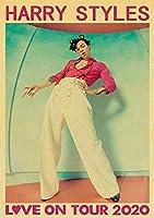 ダイヤモンド絵画有名な英国の歌手ハリースタイルポスターヴィンテージポスターホームルームバーアートウォールステッカー壁の装飾絵画