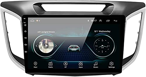 Unidad de Cabeza de navegación GPS para Hyundai Creta IX25 2014-2018 10,1' Pantalla táctil capacitiva Android 8.1 Reproductor Multimedia de Control telefónico Sat Nav