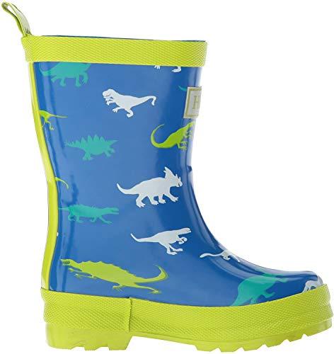 Hatley Jungen Printed Wellington Rain Boots Gummistiefel, Blau (Dinosaur Menagerie 400), 32 EU
