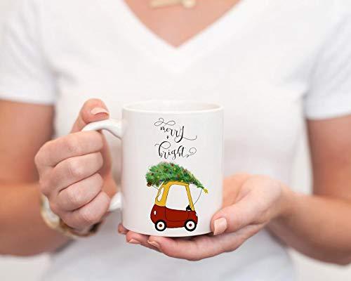Merry and Bright mug Christmas mug cozy coupe Christmas cozy coupe Christmas coffee mug Christmas coffee cup gifts for her custom mug