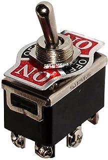 AERZETIX: Interruptor conmutador de palanca DP3T ON-OFF-ON 10A/250V, 3 posiciones C10570