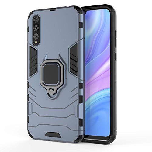 TANYO Funda para Huawei P Smart S (Huawei Y8p), Carcasa TPU/PC Hybrid Case con 360° Soporte, Robusta Silicona Estuche, Antigolpes Cover Caso Azul