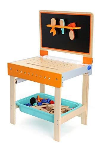 small foot 10603 Werkbank und Maltisch als 2-in 1 Spielzeug aus Holz