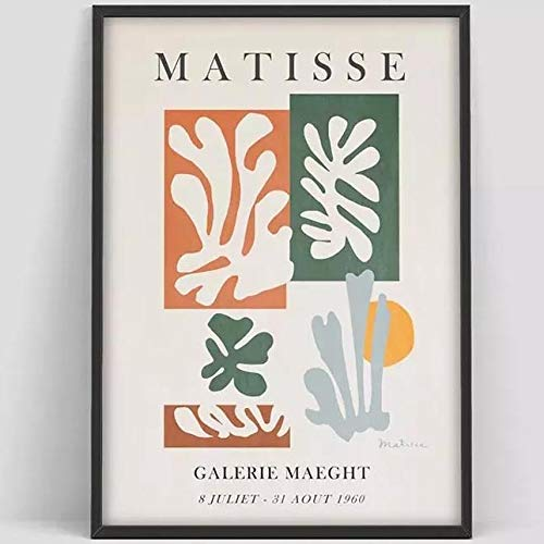 Póster de exposición de alma, póster de Pierre Soul, exposición de impresión de arte de Soul Matisse, impresiones abstractas, lienzo sin marco A2 30x40cm