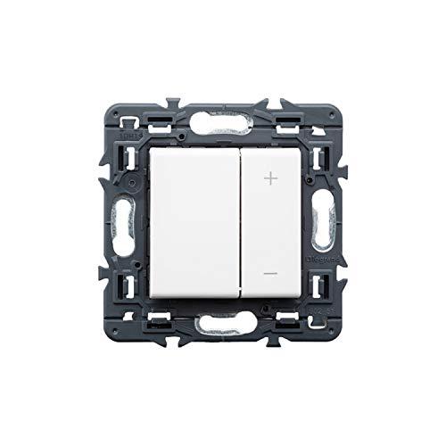 Regulador universal de luz con pulsador 400W 50HZ, modelo Valena Next, color blanco, 6 x 8,5 x 8,5 centímetros (referencia: Legrand 741254)