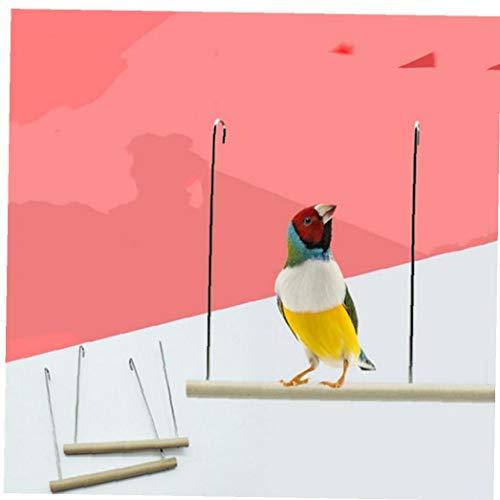 TOSSPER 1pc Loro Se Encarama Pájaro del Animal Doméstico Juguetes Soporte Plataforma De Descanso Juguetes para Periquitos Periquitos Cacatúas Birdcage Accesorios