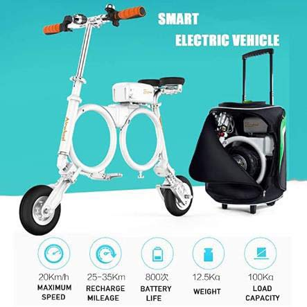 E3 Bicicleta Eléctrica Plegable Del Viajero Urbano E-bici Velocidad Máxima 20 Kmh...