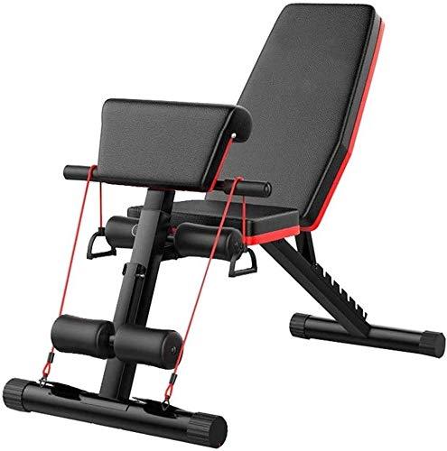 WBZ ZJX Fitness Stuhl Hantelbank, Einstellbares Gewicht Bank, Bank Faltbare Workout Sit-ups for Home Gym Übungen