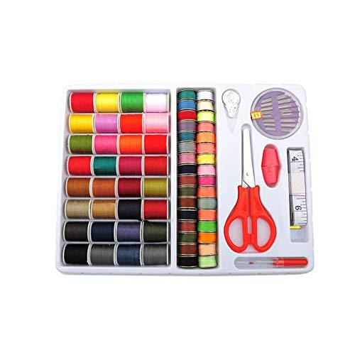 Tejido 32 colores hilos de coser kit de costura agujas de coser caja duradera robusta máquina de coser máquina línea de línea for el hogar DIY Herramienta de trabajo artificial Tejer ( Color : 67pcs )