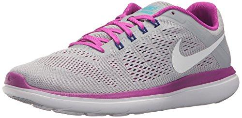 Nike Women's Flex 2016 RN Running Shoe, Wolf Grey/White/Hyper Violet/Concord, 5 B US