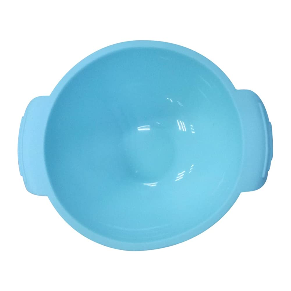 Stem and Roots 100% Silicone Suction Bowl with Spoon for Feeding Baby and Toddler (Blue)