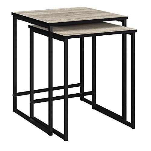 Ameriwood Home Stewart Nesting Tables, Weathered Oak