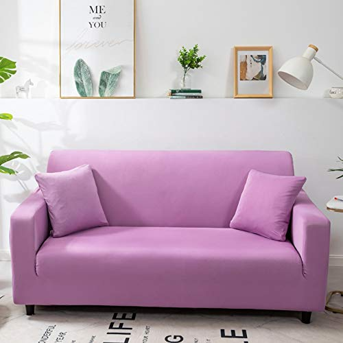 Funda de sofá de Color sólido para Sala de Estar Blanca como la Nieve, Funda de sofá elástica a Prueba de Polvo, Funda de sofá, Toalla elástica para sofá A22, 3 plazas
