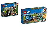 Steinchenwelt Lego City Bauernhof 2er Set: 60181 Forsttraktor + 60223 Transporter für Mähdrescher