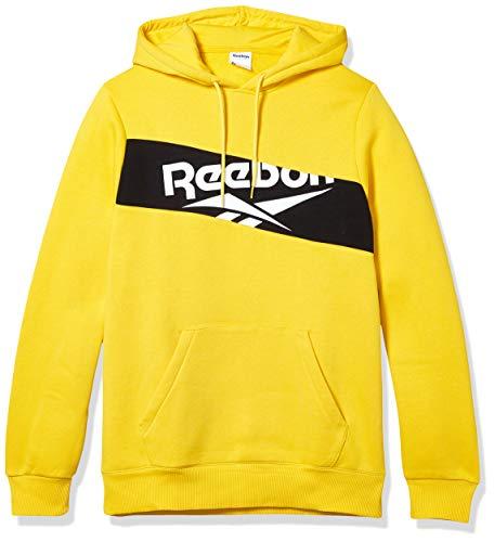 Reebok Herren Classics Vector Hoodie, Herren, Kapuzenpullover, Classics Vector Hoodie, giftiges Gelb, Large