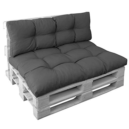 Palettenkissen Set Basix - Sitzkissen 120x80 cm und Rückenkissen 120x40 cm –...