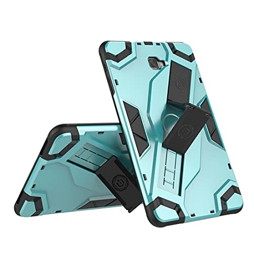 Tablets Duras Tablet Funda para SSAMSUNG Galaxy Tab A6 10.1 (2016) T580 / T585, TPU + PC Cubierta Protectora multifunción a Prueba de Golpes con asa Plegable Tablets Fundas (Color : Green)