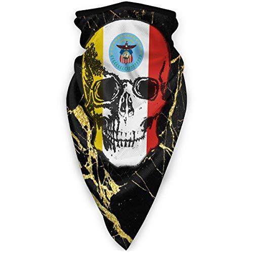 Nother Bandera de Colón Skull1 3D a prueba de viento bufanda escudo al aire libre bufanda pasamontañas bandana headwear bufanda