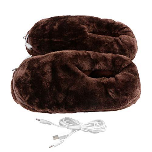Diantai - Calentador de pies eléctrico por USB, para hombres y mujeres, para invierno, cálidos, para climas fríos, cómodos, cálidos