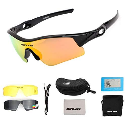 BDS Gafas de Ciclismo para niños Gafas de Sol polarizadas Anti UV para Deportes al Aire Libre Gafas de Sol para niños Gafas para niños Equilibrio Patinete para Scooter