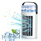 Condizionatore D'aria Portatile, Mini Condizionatori Portatile Ventilatore Ventola di Raffreddamento 3 Velocità, Evaporativo Purificatore D'aria Air Cooler con 7 LED Colori, per Casa/Ufficio (Green)