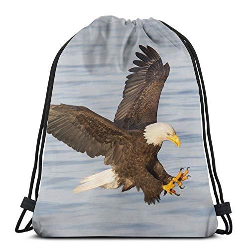 Affordable shop Bald Eagle - Mochila de buceo con alas extendidas con cordón, ligera, para gimnasio, viajes, yoga, bolsa de hombro para senderismo, natación, playa
