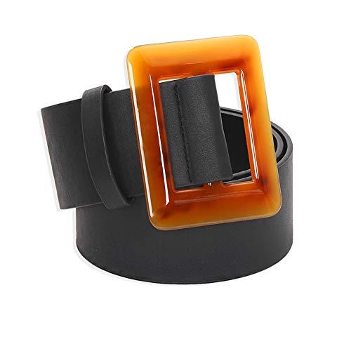 Cinturón De Cuero PU De Resina Cuadrada Salvaje De Estrellas Europeas Y Americanas, Cadena De Cintura Simple Geométrica Cuadrada, Accesorios Transfronteriza
