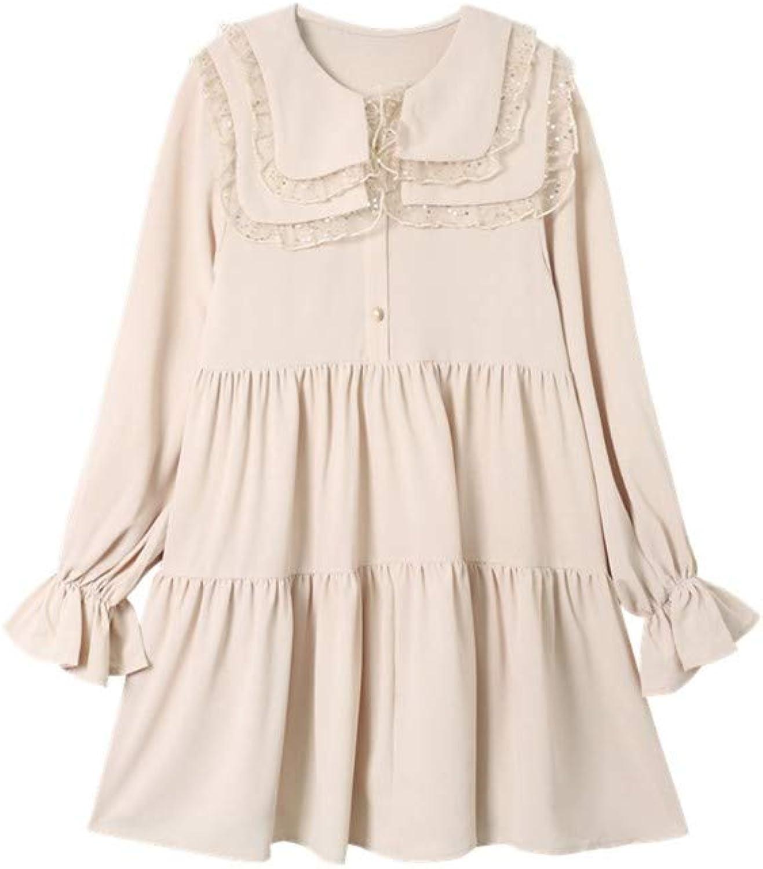 MSNZS Dresses Vintage Loose Long Sleeves