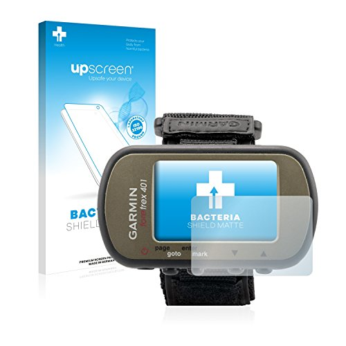 upscreen Protector de Pantalla Mate Compatible con Garmin Foretrex 401 Película Protectora Antibacteriana - Anti-Reflejos, Anti-Huellas, Anti-Rayado
