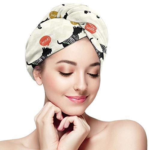 Toalla de pelo de microfibra para mujeres, turbante de pelo de perro para secar el cabello mojado, toallas de pelo fáciles de girar