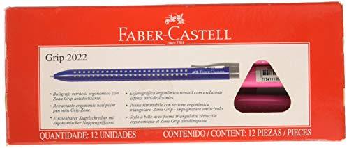Faber-Castell Grip 2022-m Twist Retractable Ballpoint Pen Triangular 1Pi�ce (S)���(Twist Ballpoint Pens Retractable Ballpoint Pen, Pink, Rose, Pink, Plastic, Rubber)