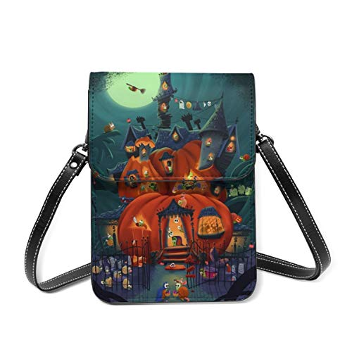 Best Witch Brooms Halloween Snail Parties Leather Small Phone Bag Crossbody Cell Phone Purse For Women Cellphone Shoulder Bags Card Holder Wallet Purse With Adjustable Strap Gifts