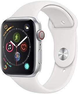 Apple Watch Series 4 Cellular, 44 mm, Alumínio Prata, Pulseira Esportiva Branca e Fecho Clássico - Mtvr2bz/a