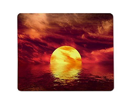 Yeuss schemering Rechthoekige Non-lip Mousepad Mooie zee en wolken hemel mooi, abstract, lucht, sfeer, achtergrond Gaming muismat 200mm x 240mm