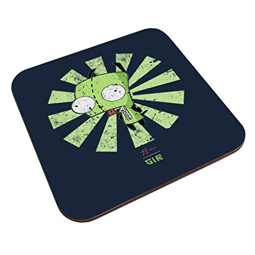 Gir Retro Japanese Invader Zim Coaster