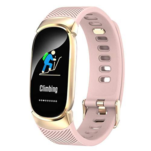 Wsaman Reloj Deportivo a Prueba de Agua, Pulsera Actividad Inteligente con Podómetro para Niños y Niñas, Monitor Rítmo Cardíaco y Sueño,Rosado