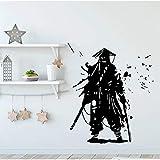 Kendo Samurai Ninja vinilo pared pegatina Guerrero Kendo 3D creativo vinilo pared pegatina Mural decoración artística