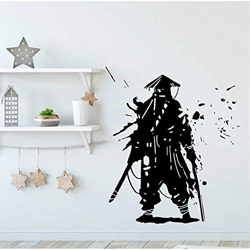 Kendo Samurai Ninja vinilo pared pegatina Guerrero Kendo Navidad Reno calcomanía pegatina de pared decoraciones navideñas